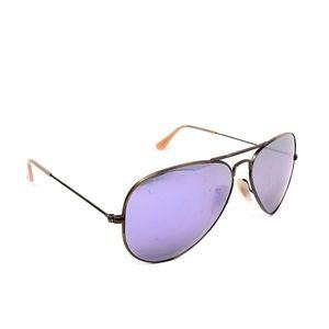 RayBan Aviator Sunglasses Flash Purple Mirrored